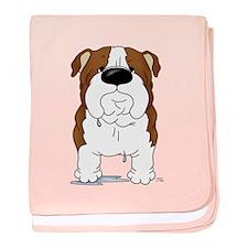 Big Nose Bulldog baby blanket