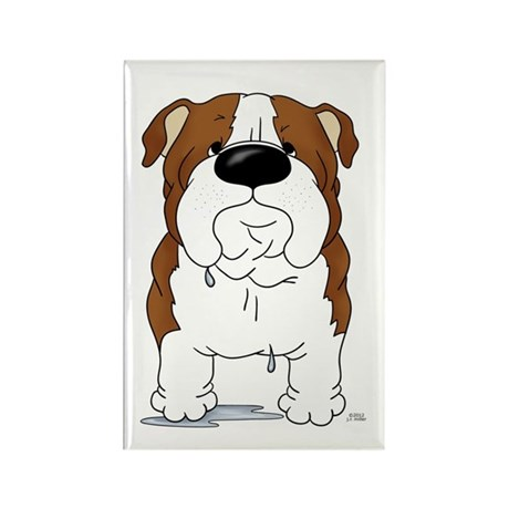 Big Nose Bulldog Rectangle Magnet (10 pack)