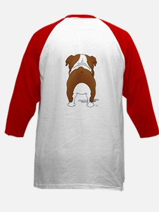 Big Nose Bulldog Kids Baseball Jersey