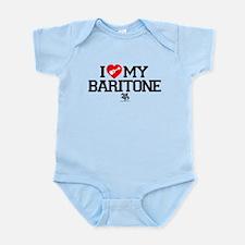 I Love My Baratone Ukulele Infant Bodysuit
