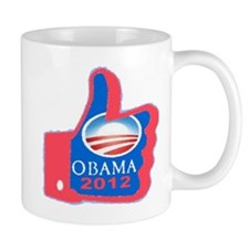 Thumbs Up Obama 2012 Small Mug