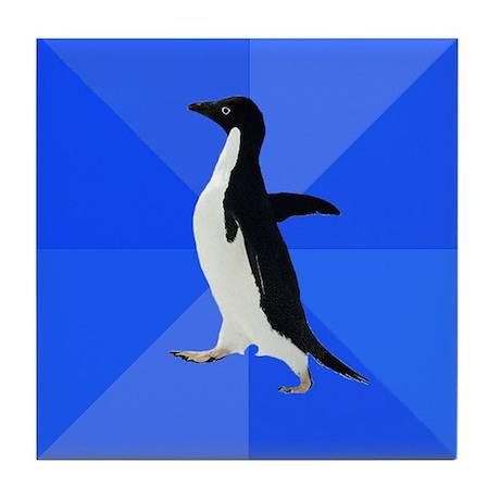 Socially Awkward Penguin Tile Coaster