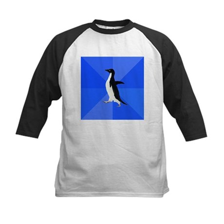 Socially Awkward Penguin Kids Baseball Jersey