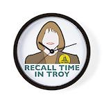 Custom Wall Clock: Recall Janice - Recall Time