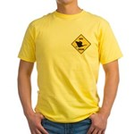Canada Goose Crossing Sign Yellow T-Shirt