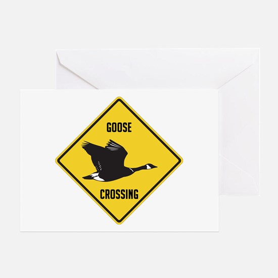 Canada Goose Crossing Sign Greeting Card