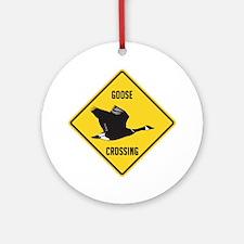 Canada Goose Crossing Sign Ornament (Round)