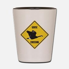 Canada Goose Crossing Sign Shot Glass