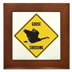 Canada Goose Crossing Sign Framed Tile