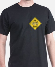 Chick Crossing Sign T-Shirt