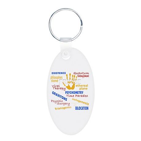 Fringe Season 4 Intro Words Aluminum Oval Keychain