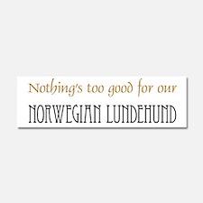 OUR Norwegian Lundehund Car Magnet 10 x 3