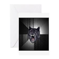 Insanity Wolf Greeting Card