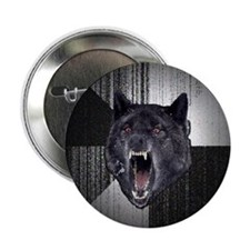 "Insanity Wolf Circle 2.25"" Button"