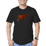 Shorthorn Cow Men's Fitted T-Shirt (dark)
