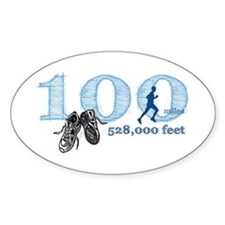 100 Mile Ultra Marathon Men's Decal