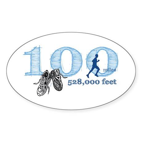 100 Mile Ultra Marathon Men's Sticker (Oval)