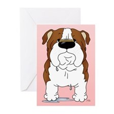 Bulldog Valentine Greeting Cards (Pk of 10)