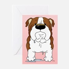 Bulldog Valentine Greeting Cards (Pk of 10)