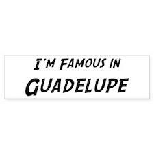 Famous in Guadelupe Bumper Bumper Sticker