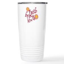 Faith, Hope, and Love Travel Coffee Mug