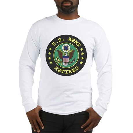 Long Sleeve Army Retired T-Shirt