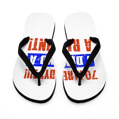 70th birthday design Flip Flops