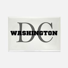 Washington thru DC Rectangle Magnet