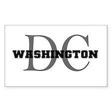 Washington thru DC Rectangle Decal