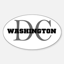 Washington thru DC Oval Decal