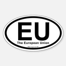 EU European Union Sticker (Oval)