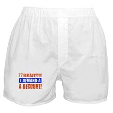 77th birthday design Boxer Shorts