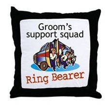 Grooms Squad Ring Bearer Throw Pillow