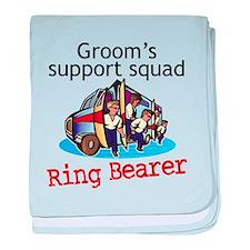 Grooms Squad Ring Bearer baby blanket
