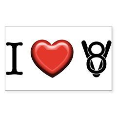 I love V8 Sticker (Rectangle)