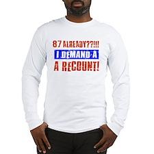 87th birthday design Long Sleeve T-Shirt