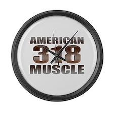 318 American Mopar Muscle Large Wall Clock