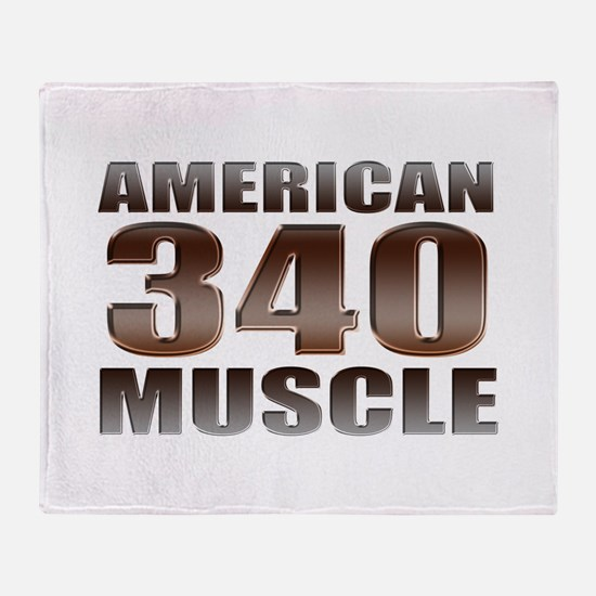 American Mopar Muscle 340 Throw Blanket