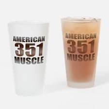 American Ford Muscle 350 Clev Drinking Glass