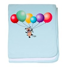 Billy's Balloons baby blanket