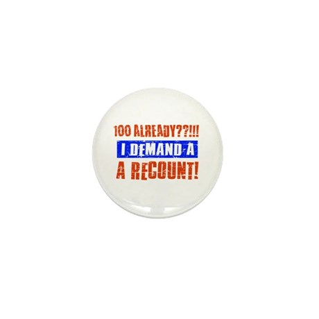 100th birthday design Mini Button (10 pack)