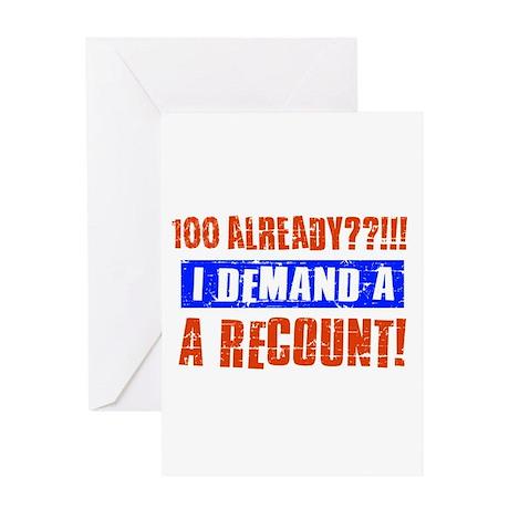 100th birthday design Greeting Card