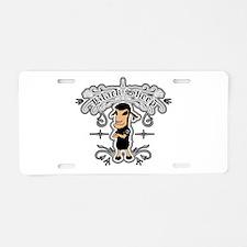 Unique Black sheep Aluminum License Plate