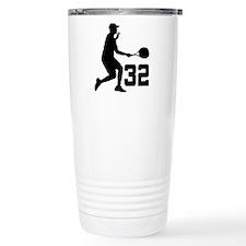Tennis Uniform Number 32 Player Travel Mug