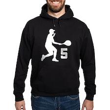 Tennis Uniform Number 5 Player Hoodie