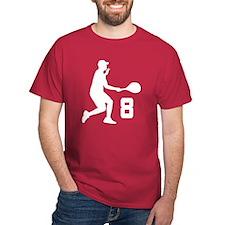 Tennis Uniform Number 8 Player T-Shirt