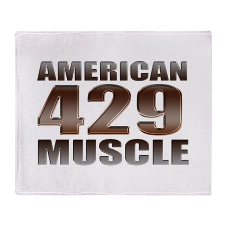 American Muscle 429 Ford Cobr Throw Blanket