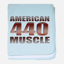 American Muscle Mopar 440 baby blanket