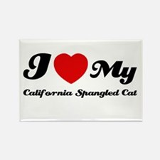 I love my California spangled Rectangle Magnet
