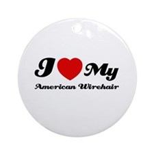 I love my American wirehair Ornament (Round)
